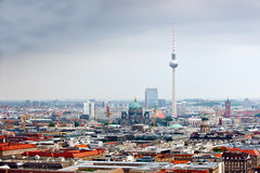 Tv-tower and Cathedral in Berlin Royalty Free Stock Photos
