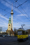 The TV Tower and Church St. Mary in Berlin .Germany Stock Image