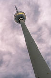 TV Tower (Fernsehturm) in Alexander Platz Stock Photo