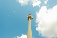 TV Tower - Fernsehturm - in Berlin, Germany. TV Tower - Fernsehturm - in Berlin, Germany - frog perspective Stock Photos
