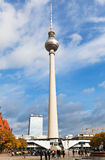Tv tower fernsehturm in Berlin Royalty Free Stock Image