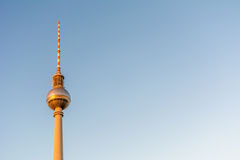 The TV Tower (Fernsehturm) in Berlin. The TV Tower (Fernsehturm) during sunset in Berlin, Germany Stock Photography