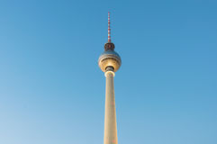 The TV Tower - Fernsehturm during sunset in Berlin, Germany Stock Photos