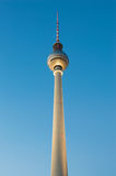 The TV Tower - Fernsehturm during sunset in Berlin, Germany Royalty Free Stock Image