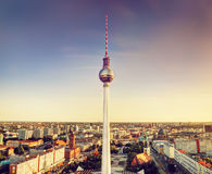 Tv tower or Fersehturm in Berlin, Germany Royalty Free Stock Photos