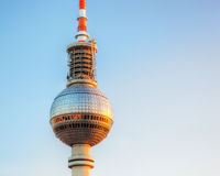 Tv tower or Fersehturm in Berlin, Germany Royalty Free Stock Image