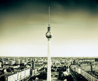 Tv tower or Fersehturm in Berlin, Germany. Royalty Free Stock Image