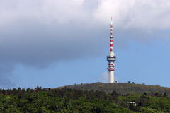 Tv tower on hill Pecs Royalty Free Stock Image