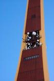 TV tower III. Antennas on TV tower Stock Photo
