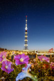 The TV Tower of the Leningrad Radiotelevision transmission Cente Royalty Free Stock Photos