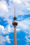 The TV Tower located on the Alexanderplatz Stock Photography