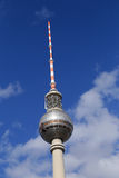 The TV Tower located on the Alexanderplatz in Berlin, Germany Royalty Free Stock Image