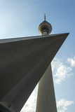 The TV Tower located on the Alexanderplatz in Berlin, Germany. Fernsehturm Royalty Free Stock Photos