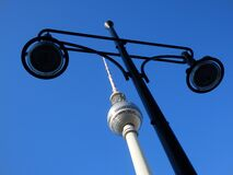 TV Tower on low Angle Photography Stock Photos