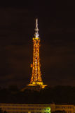 The TV Tower in Lyon, France at night Stock Image