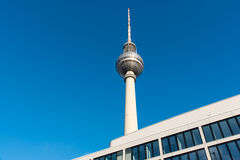 TV Tower and modern building Royalty Free Stock Photography