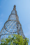 TV Tower in Moscow, Russian television. Royalty Free Stock Photo