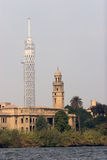 TV tower and mosque Stock Photography