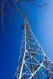 TV Tower at Mt Sokuryo Muroran, Hokkaido, Japan. One of the 6 TV (antenna) Towers on summit of Mt. Sokuryo (199.6 m). Great panoramic views of Muroran can be Stock Image