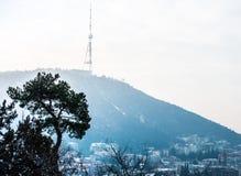 TV-tower. On Mtatsminda mountain in Tbilisi, Georgia Royalty Free Stock Photo