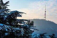 TV-tower. On Mtatsminda mountain in Tbilisi, Georgia Royalty Free Stock Photos