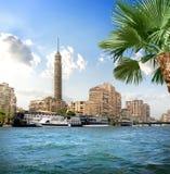 TV tower near Nile Royalty Free Stock Photo