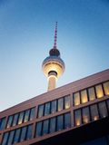 Tv tower at night Stock Photography