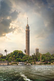 TV tower and Nile Royalty Free Stock Image