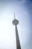 TV Tower over blue sky. Stock Photo