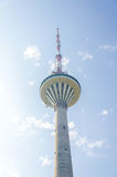 TV Tower over blue sky. Stock Image