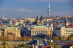 TV Tower, Panorama, Prague Castle, Prague, Czech Republic Royalty Free Stock Photo