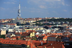 TV Tower, Panorama of the Prague, lesser Town, Prague, Czech republic Stock Images