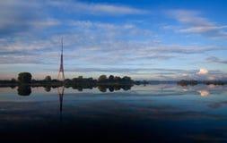 TV Tower reflection. Riga Latvia Royalty Free Stock Image