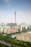 Tv tower and skyscrapers under constructing Stock Photo