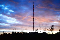 TV tower in Viesintos town Anyksciai district Stock Photo
