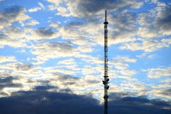 TV tower in Viesintos town Anyksciai district Stock Photography