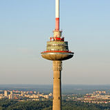 TV tower in Vilnius, Lithuania Stock Image