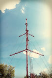 TV Tower Vintage view. Royalty Free Stock Photography