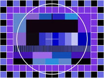 TV transmission test card Royalty Free Stock Photos
