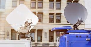 Tv transmission van Royalty Free Stock Photo