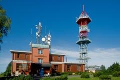 TV transmitter Kozakov Stock Photos