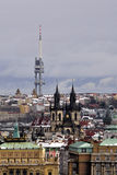 TV transmitter in Prague Royalty Free Stock Images