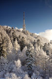 Tv transmitter Sitno in Winter landscape Royalty Free Stock Image