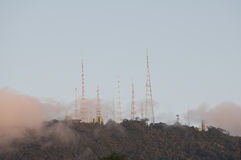 A TV transmitting tower. At sumare, in Rio de Janeiro, Brazil Royalty Free Stock Photo