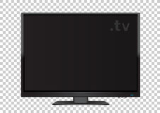 TV on transparent background Stock Photography