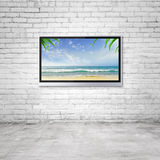 TV with tropical ocean Royalty Free Stock Images