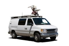 TV Truck Royalty Free Stock Photo