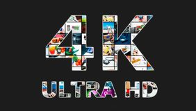 TV ultra HD. 4K television resolution technology Royalty Free Stock Photo