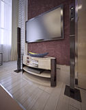 TV unit in a luxurious classic style Royalty Free Stock Images