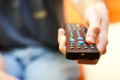 TV van de afstandsbediening Royalty-vrije Stock Afbeelding